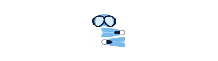 Gafas y aletas